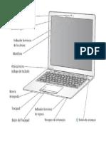 Computadora Portatil Con Sus Partes
