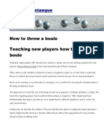 How to Throw a Boule