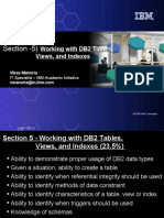 5) Working With DB2 Tables, Views, And Indexes