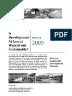 Sustainable Development Lumut Waterfront