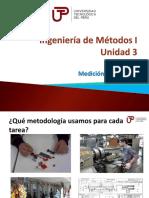 Ingeniería de Métodos I - Semana 8 - Sesión 2-Medición Del Trabajo