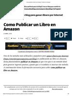 Como Publicar Un Libro en Amazon