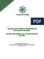 Plan Estrategico de Transfor Escolar