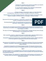 Temas y Epígrafes Inglés Oposiciones