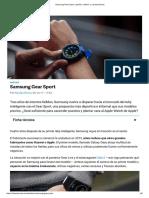 Samsung Gear Sport_ Opinión, Análisis y Características