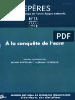 Repères Nº 18 - 1998