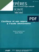 Repères nº 26-27- 2002-2003