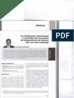 La ineficacia estructurtal o invalidez de los actos de disposicion de bienes por un solo conyuge - Alex PLACIDO VILCACHAGUA.pdf