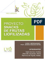 Snack Frutas Liofilizadas