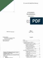 MURESAN, Pr. Lect. Univ. Dr. Radu-Petre - Stilismul in Romania (1924-2011)