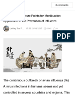 5 Basic Acupuncture Points for Moxibustion Application in the Prevention of Influenza