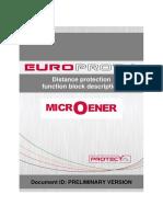 Distance Protection Function Block Description