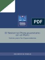 Sistemas Presupuestario en El Peru Pp
