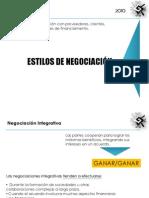 ESTILOS DE NEGOCIACIÓN