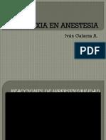 Anafilaxia en Anestesia