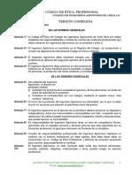 Codigo de Etica Profesional Del Colegio de Ingenieros Agronomos