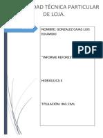Informe de Reforestación