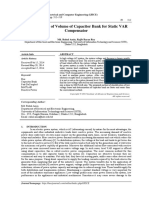 Determination of Volume of Capacitor Bank for Static VAR Compensator-2014