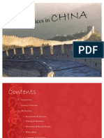 HR Practices in CHINA