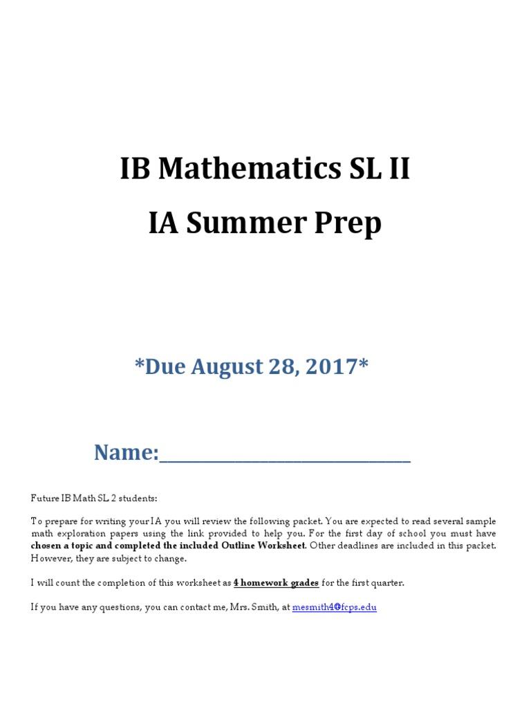 IB Math SL IA Prep | Prime Number | Number Theory