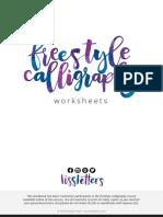 FreestyleCalligraphy Worksheets
