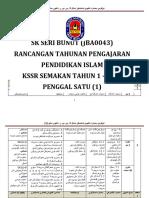 Rpt Pendidikan Islam Tahun 1 2017 - Penggal 1