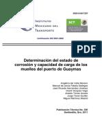 Instituto Mexicano Del Transporte Estado Corrosion Capacidad Carga Muelles Puerto Guaymas