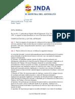 Ley Del Artesano 2008