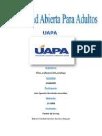 Etica Profesional Del Psicologo Tarea#6