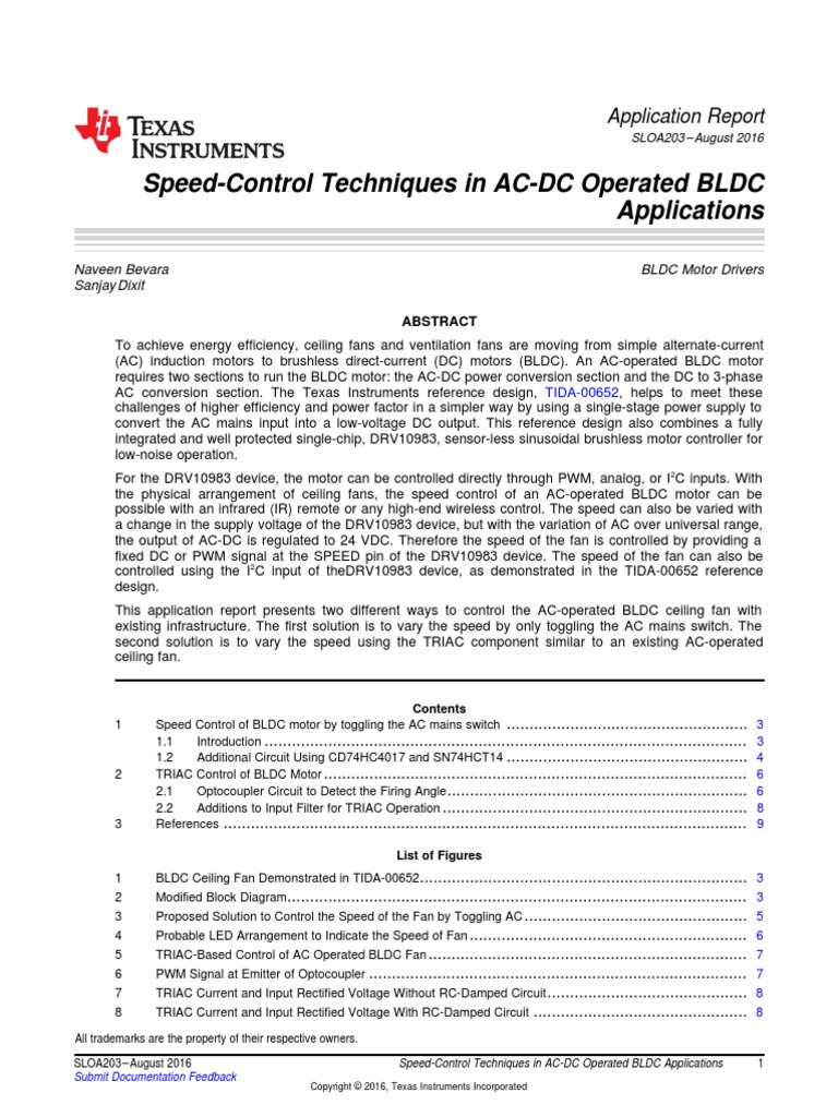 Speed Control Techniques In Ac Dc Operated Bldc Applications Brushless Motor Driver Block Diagram Direct Current Power Inverter