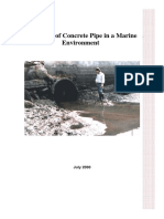 000720 Durability of Concrete Pipe in a Marine Environment