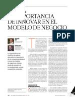 1 Importancia de Innovar El Modelo de Negocio