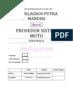 008 Prosedur Mutu - Personalia