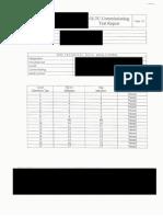 OLTC Commissioning Sample Test Report