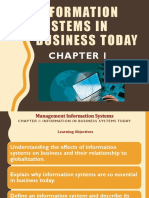 Information System in Business WPrld