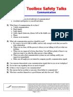 Toolbox Safety Talks 51 Communication