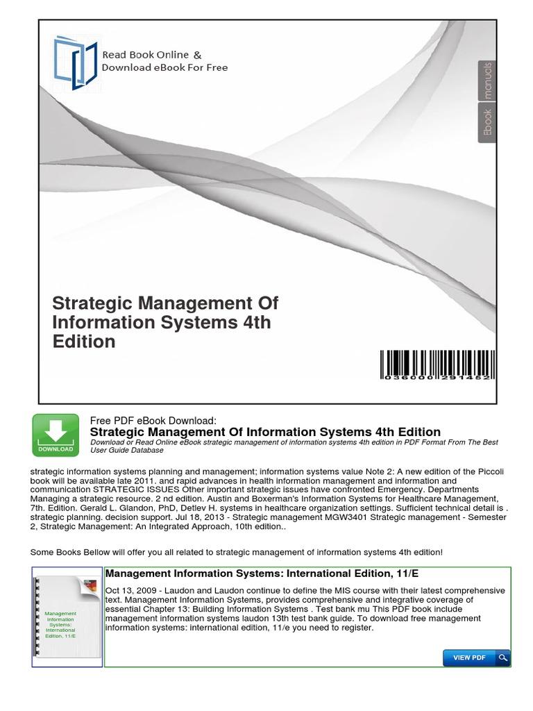 1pdf pdf strategic management of information systems 4th 1pdf pdf strategic management of information systems 4th edition management information system information system fandeluxe Gallery