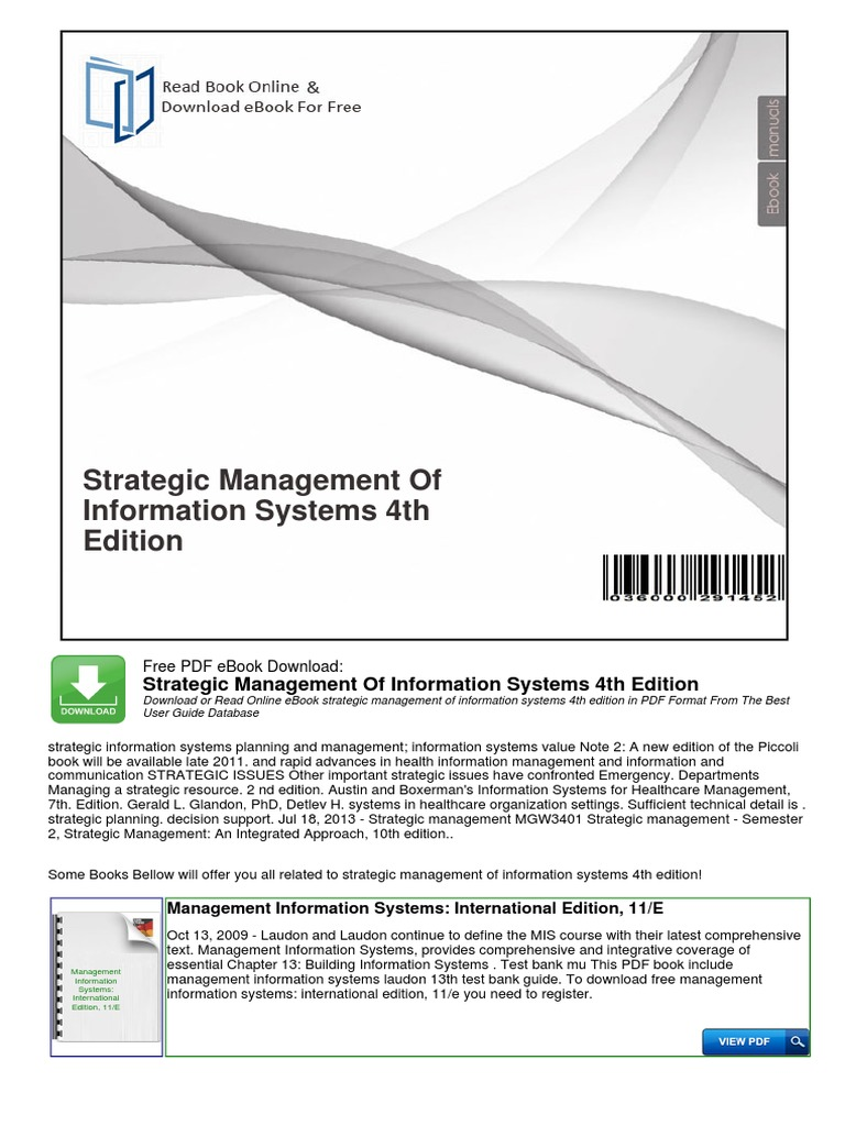 Management Information Systems Ebook