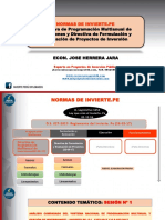 """1. Presentación PPT - Análisis Comparado y Comentado Del Sistema Nacional de Programación Multianual y Gestión de Inversiones"""" Invierte.pe (DL-Reglamento)"""