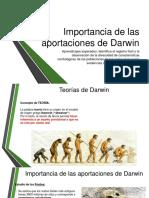 Importancia de Las Aportaciones de Darwin