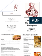 Black Bull Christmas Holiday Brochure