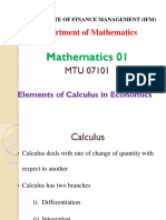 Element of Culculus in Economics-1