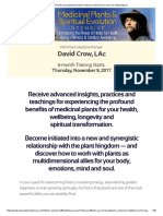 Medicinal Plants and Spiritual Evolution Intensive With David Crow _ the Shift Network