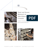 Roberto C. a. Pinto and Kenneth C. Hover Frost and Scaling Resistance of High-Strength Concrete