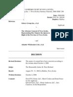 Sobeys Group Inc. v. Nova Scotia (Attorney General), 2006 NSSC 290