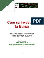 Cum Sa Investesti La Bursa