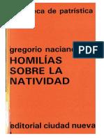 2. GREGORIO NACIANCENO - Homilias Sobre La Natividad