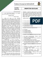 FACET - Inspetor Escolar e Recepcionista - MARCAÇÃO