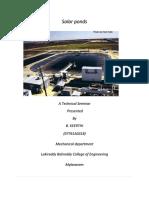 49833164 Solar Ponds Technical Seminar
