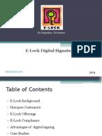E-Lock Digital Signatures